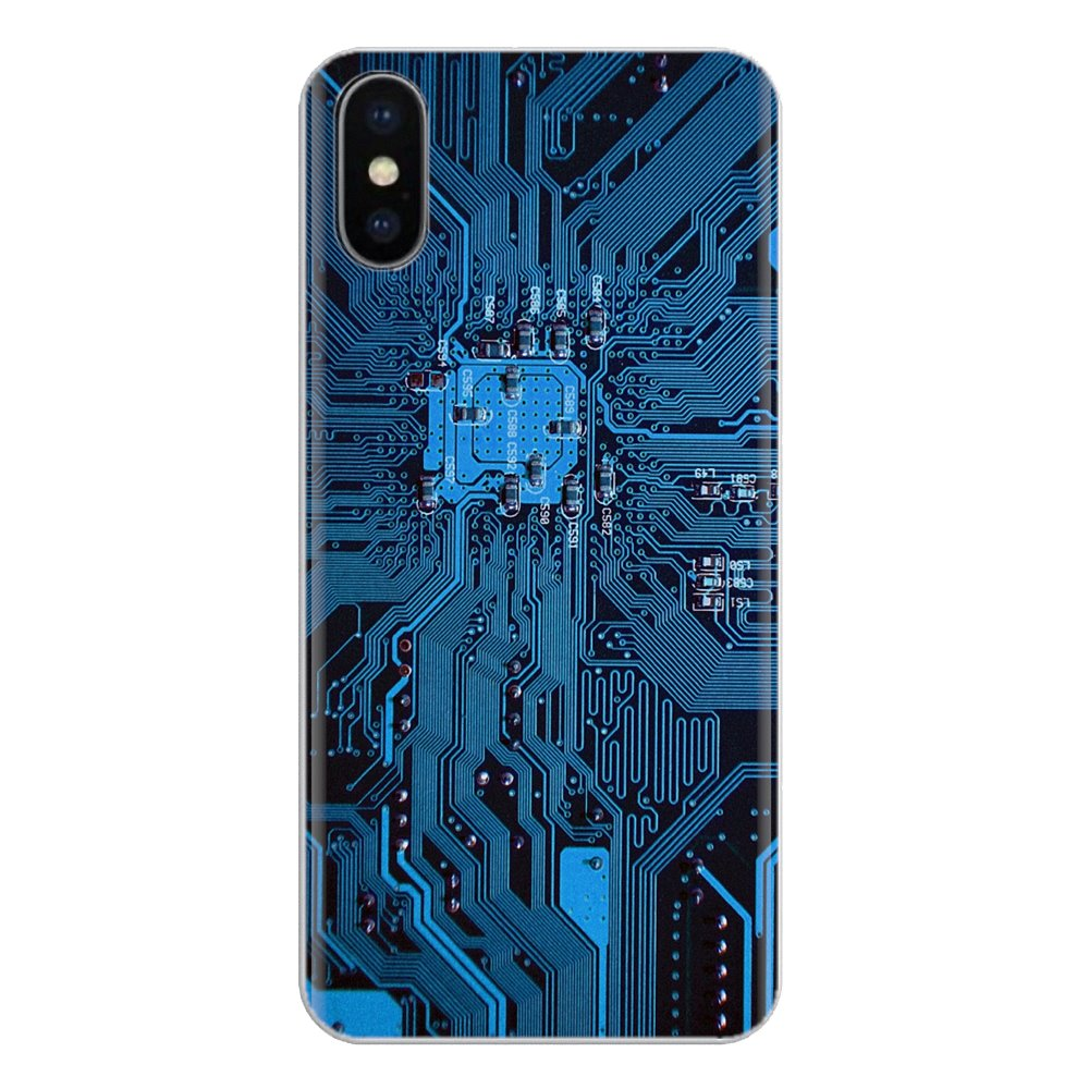 For <font><b>Sony</b></font> Xperia Z Z1 Z2 Z3 <font><b>Z5</b></font> compact M2 M4 M5 E3 T3 XA Aqua LG G4 G5 G3 G2 Mini Soft Cover Technology Circuit board <font><b>Motherboard</b></font> image