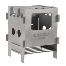 Lixada титановая деревянная плита, легкая складная деревянная плита, уличная плита для кемпинга, горелка для пикника, печи для приготовления пищи