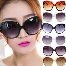 Multi-colors Sexy Women Lady's Large Classic Shopping Sunglasses Big Oval Eyewear Round Cat Eye Sun Glasses(China)