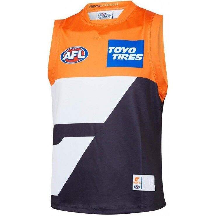 AFL GWS GIANTS 2019 MEN'S HOME JERSEY size S-3XL Print custom names and numbers Top quality Free shipping(China)