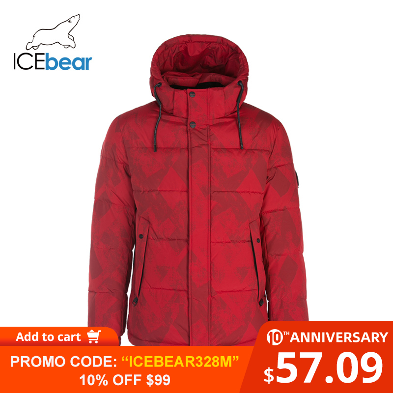 ICEbear 2019 New Men's Winter Jacket Fashion Man Coat Windproof Warm Coats MWD19908I