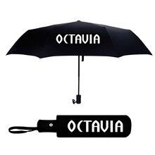 Umbrella For SKODA OCTAVIA A5 A7 A2 A6 OCTAVIA 2 3 OCTAVIA Logo Automatic Umbrella Windproof Sunshade Folding Umbrella Men Women