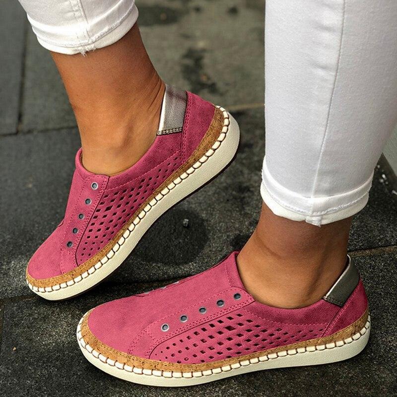 Экспресс-; женская обувь; повседневная обувь из вулканизированной кожи; кроссовки; женские удобные слипоны; лоферы на плоской подошве; zapatos mujer; Прямая поставка - Цвет: pink 3