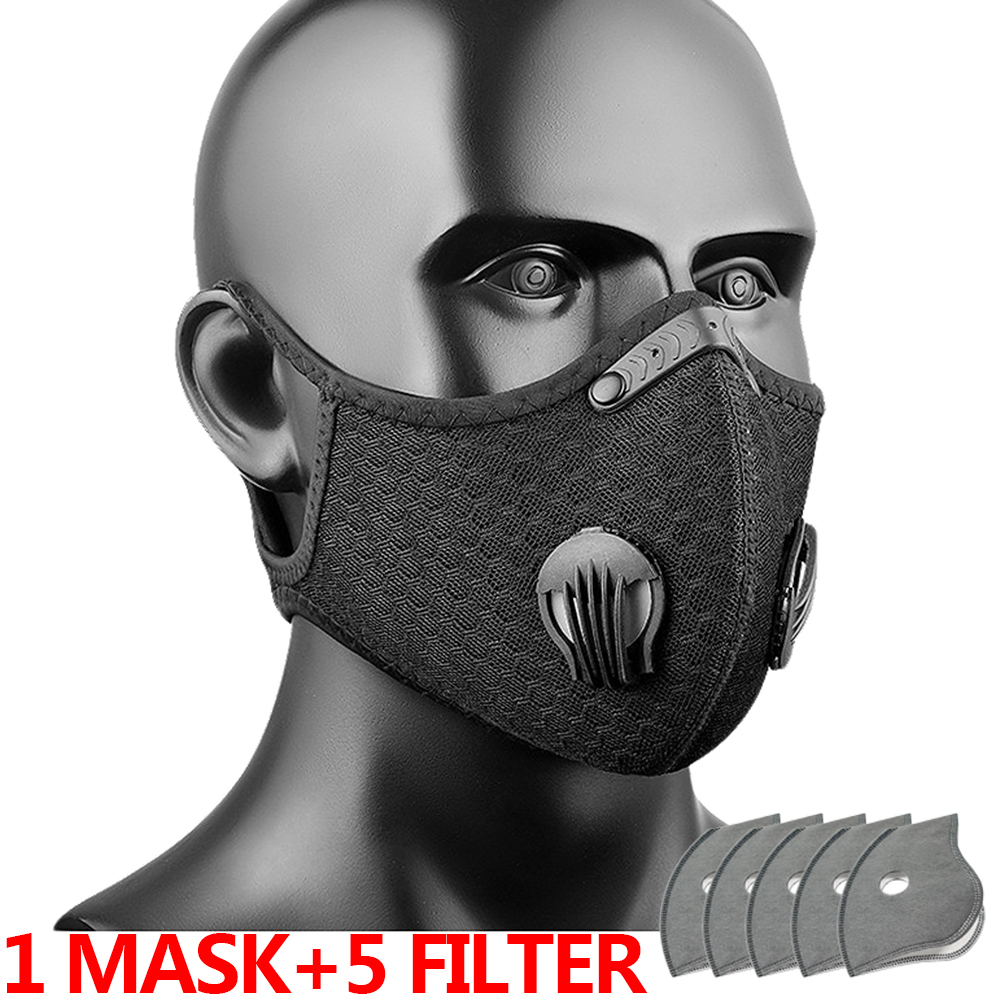 Shipping to USA Face Mask Filter Bike Cycling Mask Sport FaceMask Running Training Reusable Dust Mask Innrech Market.com