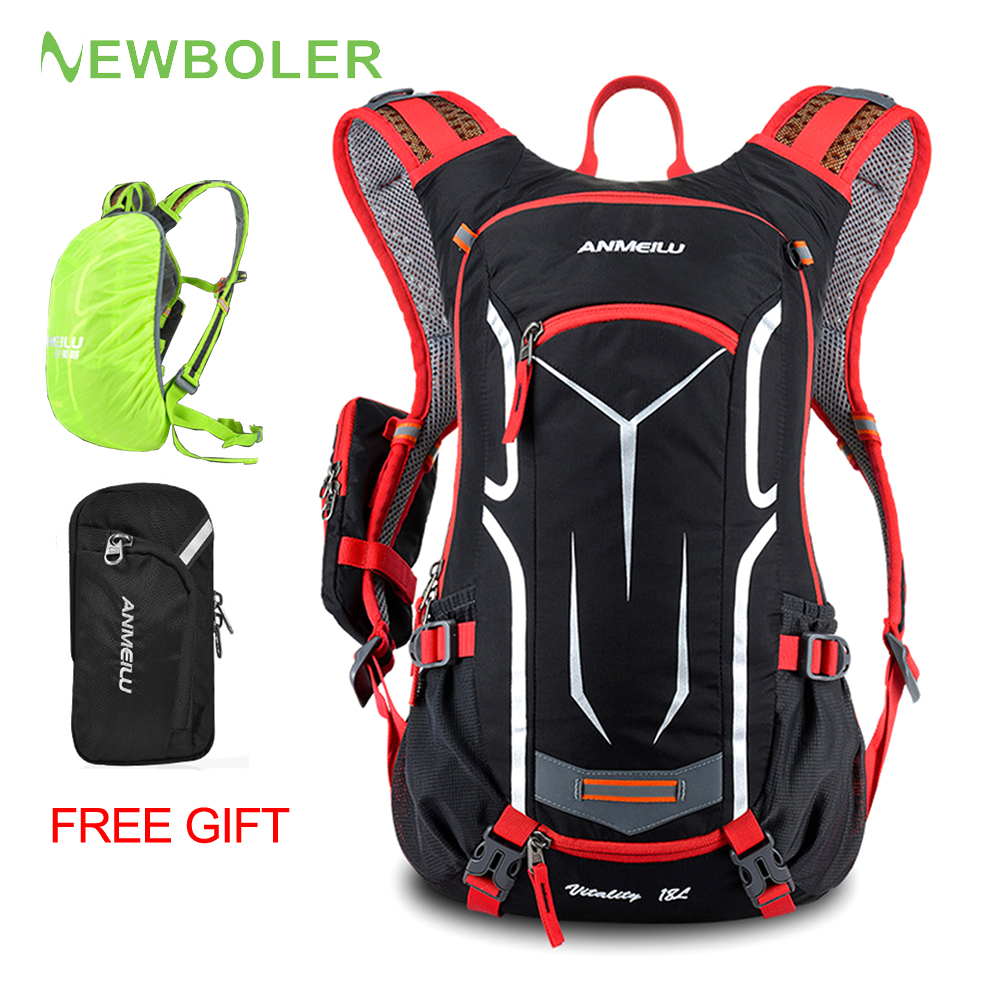 Waterproof  Running Bag Bicycle Cycling Backpack With Water Bag  18L Breathable Hike Camping MTB Mountain Hydration Rucksack