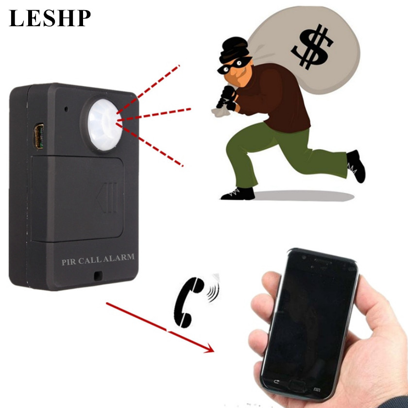 Anti-theft Motion Detector Mini GSM PIR Alarm Motion Sensor Alarm Infrared Wireless GSM Alarm With EU Plug High Sensitivity