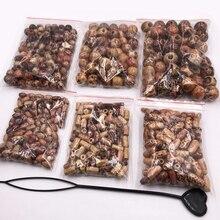 500pcs hair braid dreadlock beads Wigs Decoration Girls Wooden bead Printed Hair Braid Dreadlocks Beads Set DIY for accessories