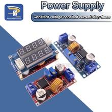 2 em 1 xl4015 5a 75w potência ajustável cc/cv step down módulo de carga led driver voltímetro amperímetro tensão de corrente constante
