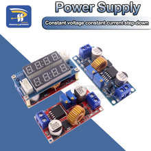 2 in 1 XL4015 5A 75W Adjustable Power CC/CV Step Down Charge Module LED Driver Voltmeter Ammeter Constant Current Voltage
