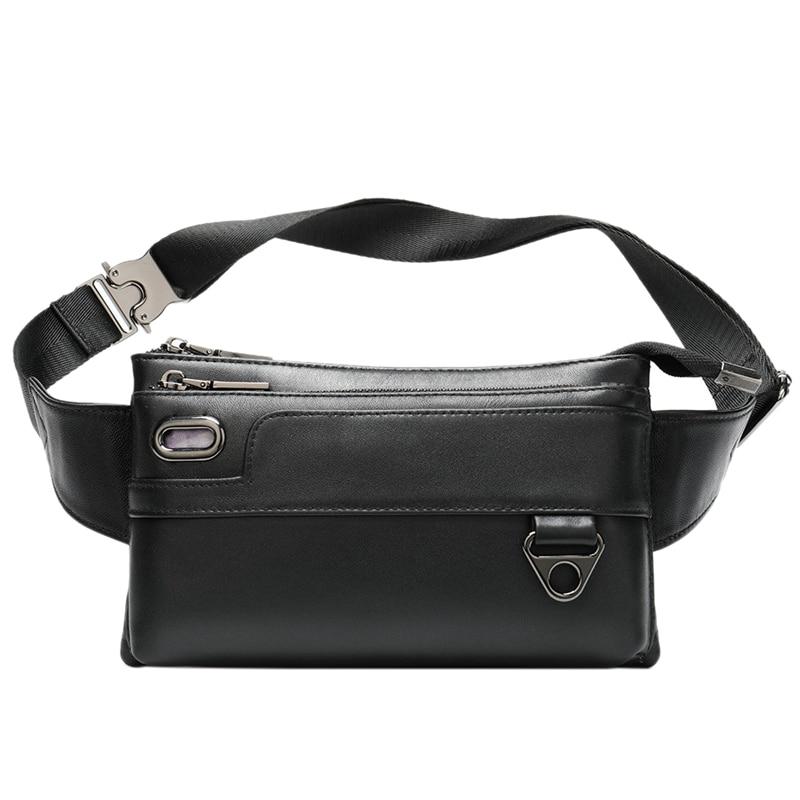Men's Waist Bag Leather Waist Packs Belt Bag Men Bag Men's Waist Bag for Men Casual Men's Bags