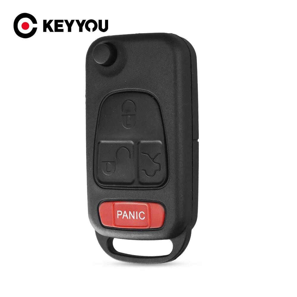 4 düğme 3 + 1 panik Flip uzaktan anahtar anahtarsız giriş durumu kılıflı anahtar kapak Benz MB için ML350 ML500 ML320 ML55 AMG ML430
