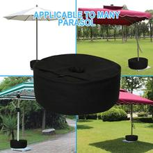 Umbrella-Weight-Bag Parasol Durable for Fixed-Add-Sand Black Cloth Protect Weatherproof-Tent