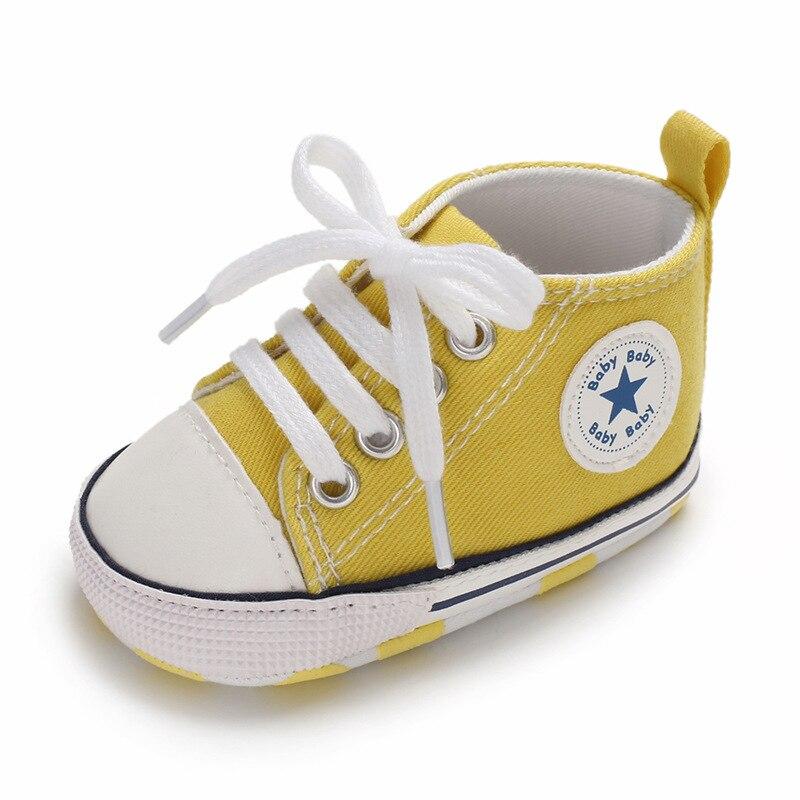Chaussures bébé Garçon Fille Solide Sneaker Coton Doux Semelle Antidérapante Nouveau-Né Infantile Premiers Marcheurs Bambin décontracté Sport Chaussures de Berceau 7