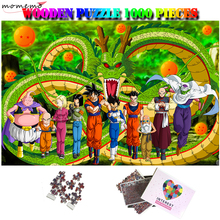 MOMEMO Wooden Jigsaw Puzzle 1000 Pieces Anime Cartoon Shenron Goku Vegeta Customized Puzzles Adults Kids Assembling Puzzles Toys
