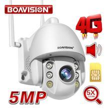 2MP Sim kaart 3G 4G Draadloze Mini Ptz Dome Camera 1080P 5MP Outdoor 5X Zoom / 4mm Vaste Lens Twee Weg Audio Cctv Security Camera