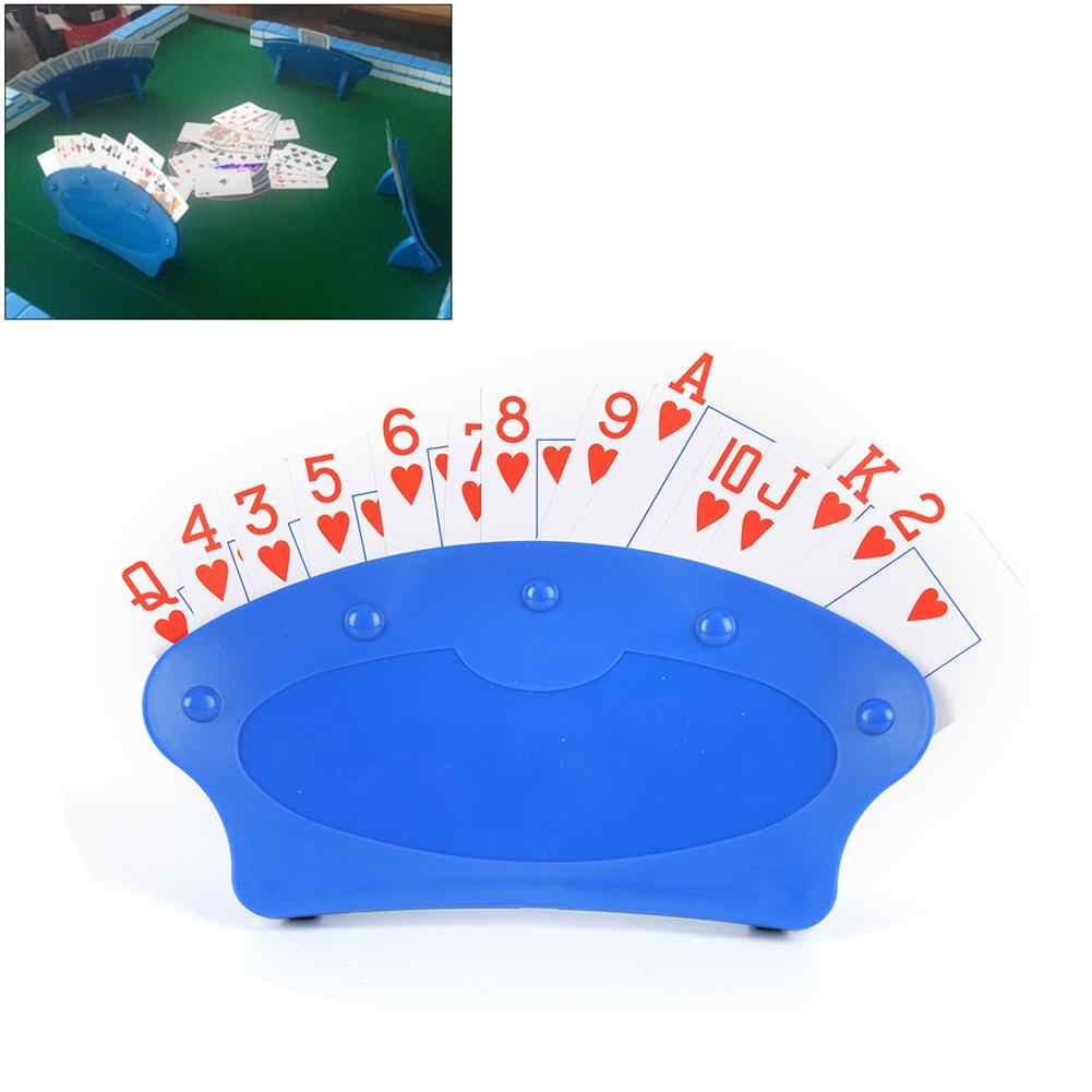 4Pcs Playing Card Holder Lazy Poker Game Hands Free Play Cards Party 4 Colors