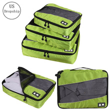 High quality 3Pcs/set Travel Luggage Organizer Cubes Breathable Mesh bags Storage Clothes Bag Waterproof Accessories