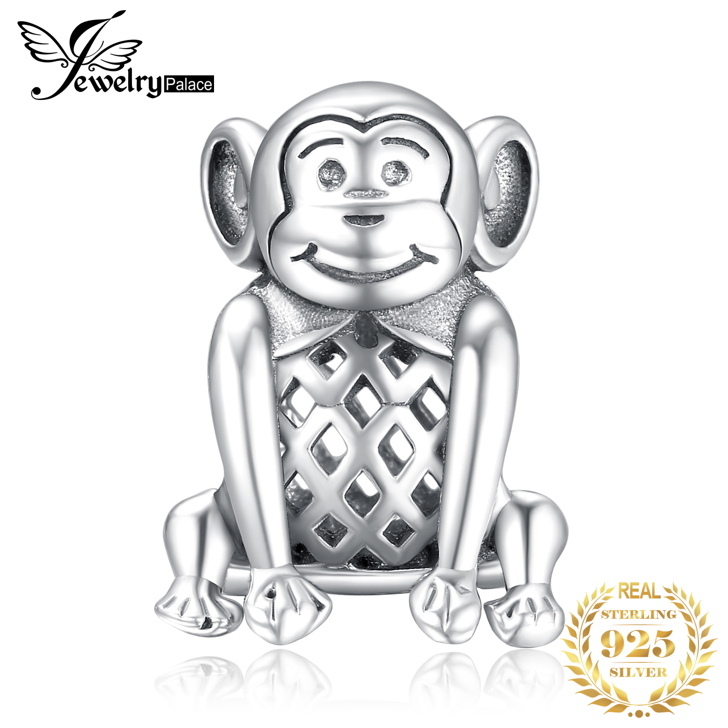 JewelryPalace 925 Sterling Silver Monkey Beads Charms Silver 925 Original Fit Bracelet Silver 925 original Beads Jewelry Making in Charms from Jewelry Accessories