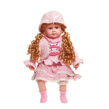 Big Size 50 cm girl doll toddler Doll Toy Lifelike Silicone Vinyl Princess doll menina Girl Baby Doll For Sale(China)