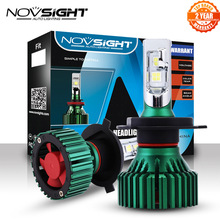 Novsight 60 ワット 16000LM H4/HB2/9003 車のledヘッドライトドライビングフォグライト電球デュアルビーム再生とプラグランプ 6500 18k D45