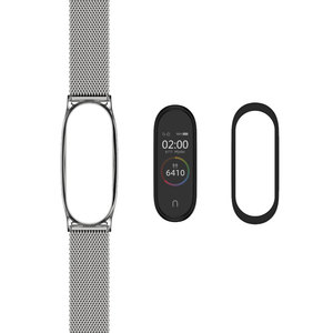 Image 5 - Mi Band 5 Strap For Xiaomi Mi Band 4 Strap Metal Milanese Stainless Steel  Compatible Bracelet Wrist Pulseira Mi band 3 Correa