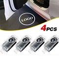 4x Led пригласительные огни в дверь автомобиля светильник Авто Логотип Призрак Тень лампы для Sline s-образная линия Quattro Q3 Q5 Q7 TT A3 A4 A5 A6 A8, на рост 80...