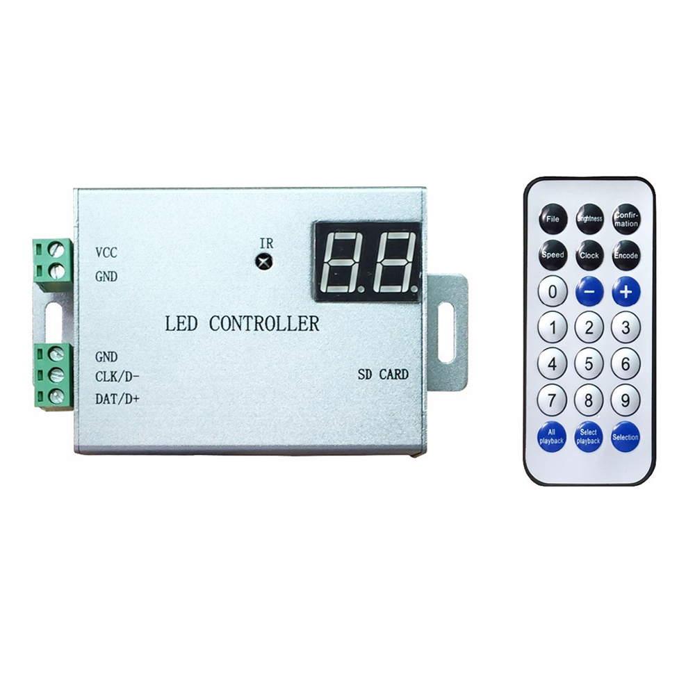 IR Wireless Remote DMX Controller Programmable Pixel Led Controller WS2812 WS2811 APA102 DMX512 One Port 4096 Pixels image