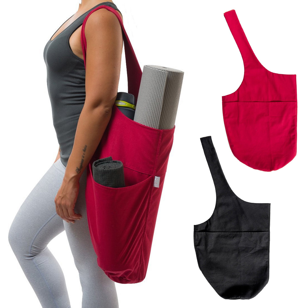 HOT 1pcs Yoga Bag One-shoulder Large Capacity Mat Holder Tote Carrier Zipper Pockets TI99