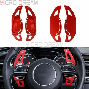 For Audi A5 S3 S5 S6 SQ5 RS3 RS6 RS7 1 Pair Car Gear Shifter Steering Wheel Shift Paddle DSG Extension Red/Black/Silver