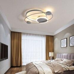 Nowoczesne lampy sufitowe Led do salonu sypialnia szary kolor lub czarny + biały kolor domu lampy sufitowe wewnętrzne 90-260V