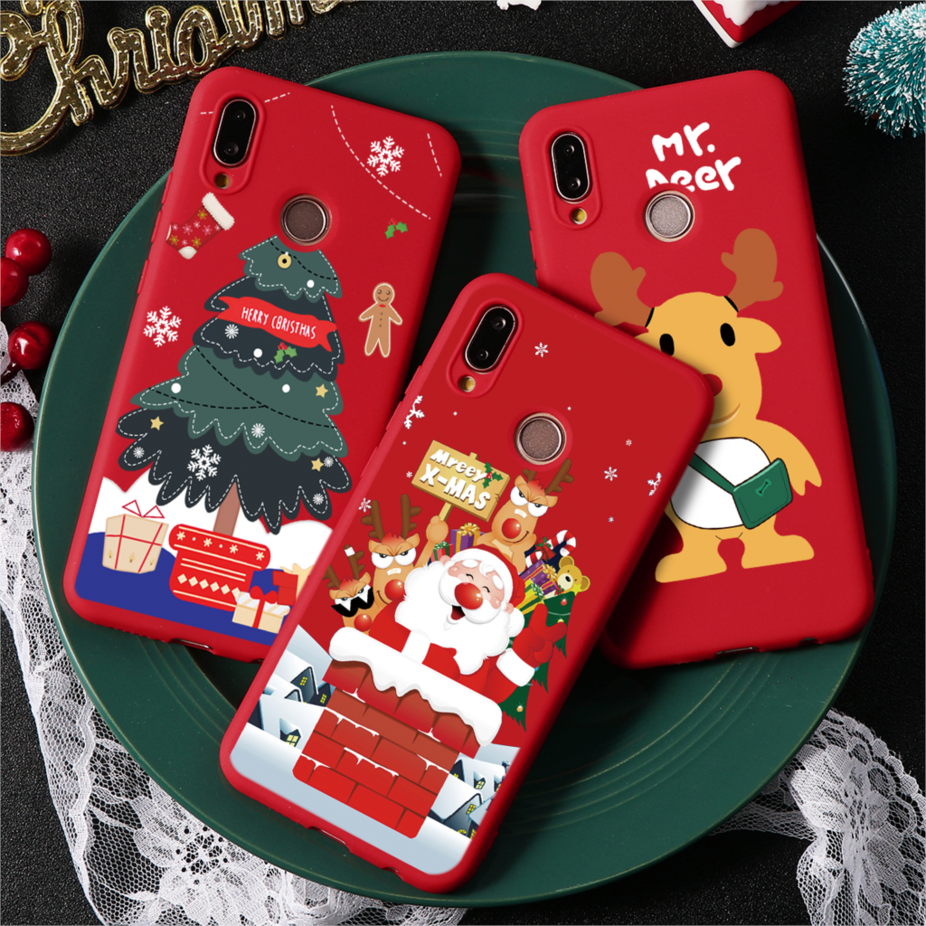 Merry Xmas Silicone Case For Huawei P8 P9 P10 P20 P30 <font><b>Lite</b></font> 2017 mini Pro For Huawei Mate 10 <font><b>Lite</b></font> 20 <font><b>30</b></font> Pro <font><b>P</b></font> Smart 2019 Coque image