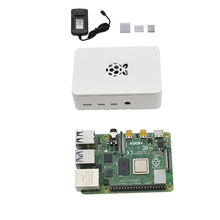 ABSF für Raspberry Pi 4 Modell B ABS Fall 4G RAM DIY Kit mit weiß Kühlkörper 5V 3A power Adapter für Raspberry PI 4B