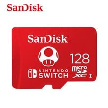 SanDisk-tarjeta micro sd para Nintendo Switch, tarjeta de memoria SDXC de 128GB, 64GB, 256GB, con adaptador, nuevo estilo