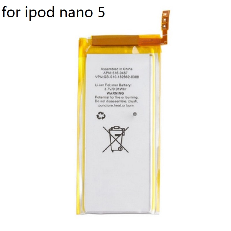 For Nano 5 Battery for iPod Nano 5 5th Gen Battery Brand New 3.7V Li-ion Battery Replacement(China)