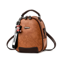 Mori retro backpack small fresh female bag new wild casual ins college wind soft leather small backpack cute backpack women