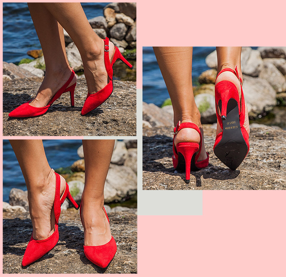 He2e823059b394e3ca8c9ed00d8317b39z Women Sandals High Heels Summer Brand Woman Pumps Thin Heels Party Shoes Pointed Toe Slip On Office Ladie Dress Shoe Plus SizeDE