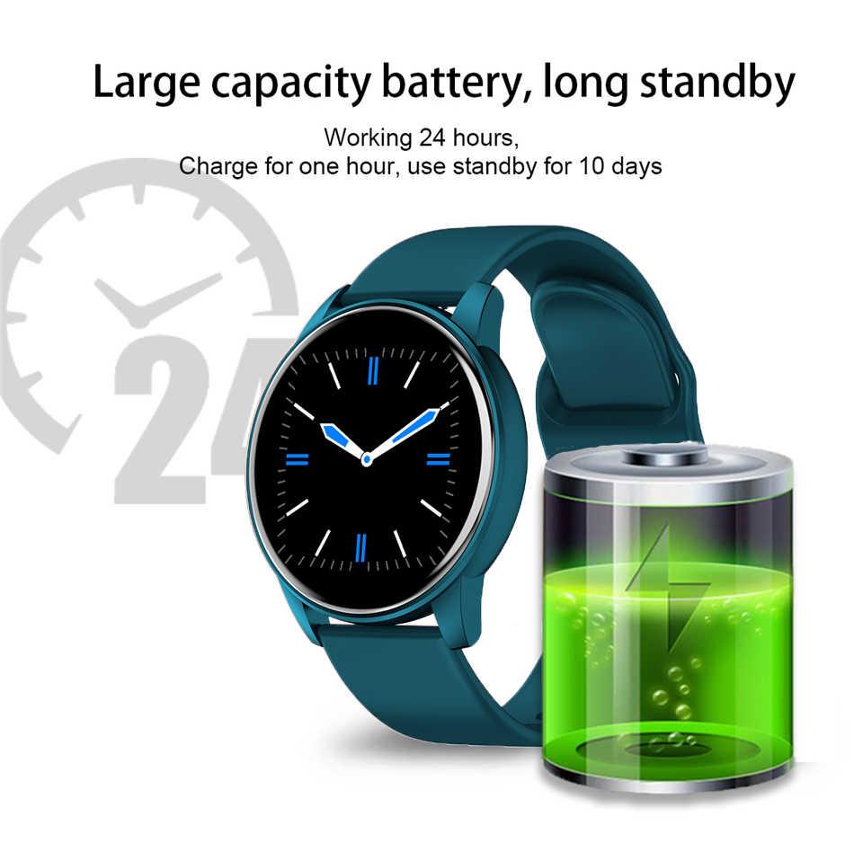 Luik Smart Horloge Bloeddruk Slaap Monitor Fitness Horloge Waterdicht Bluetooth Weer Herinnering Full Screen Touch Smart Horloge