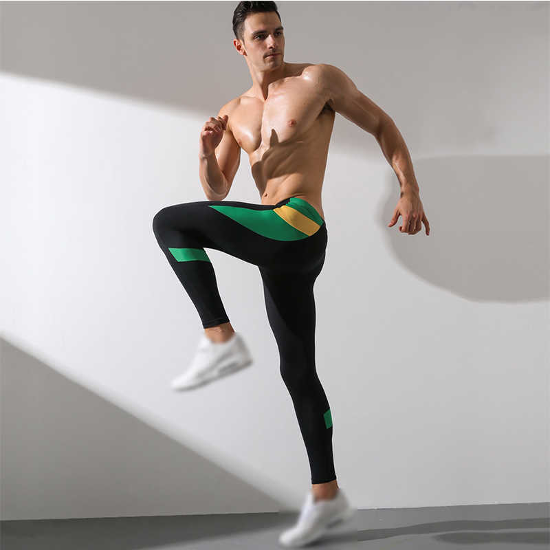 Los Hombres De Gimnasio Yoga Correr Pantalones Deportivos Para Hacer Ejercicio Medias Pantalones Largos Pantalones De Hombre De Alta Elastico Calido Skinny Leggins Hombre Pantalones De Yoga Aliexpress