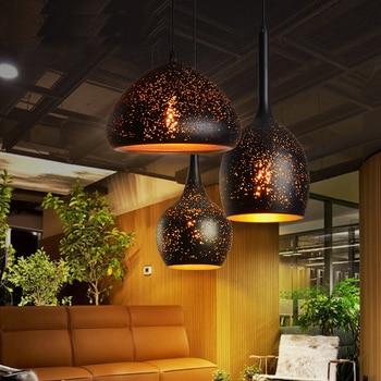 Moderne Hanglamp Nordic Hanglamp Eetkamer Metalen Retro Lustres Opknoping Armaturen Armatuur Bar Restaurant Cafe Glans