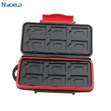 Memory Card Case Water Resistant Holder Supper Tough SD Card Holder Micro sd Case Cards Box Wallet For ds Games 12pcs SD/TF