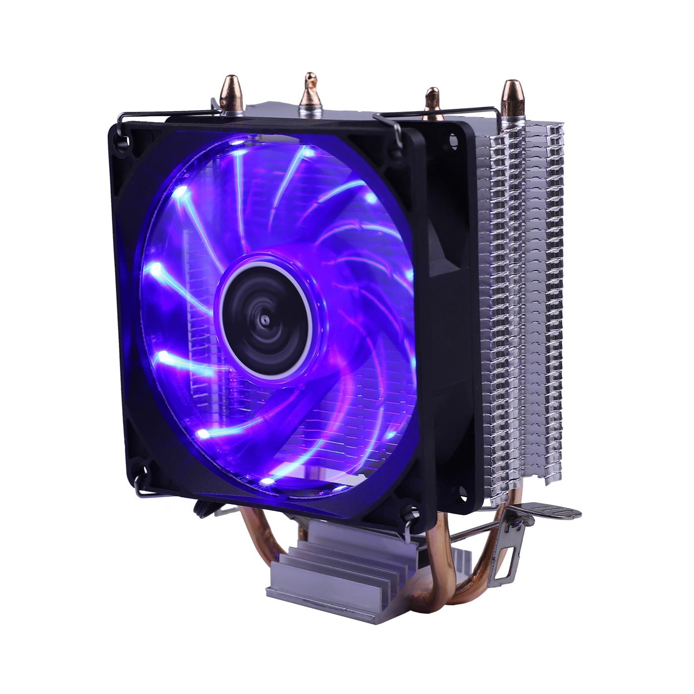 Efficient Cooling CPU Cooler Fan 3pin For Intel LGA 1150 1151 1155 1156 775 1200 AMD AM3 AM4 Quiet Ventilador Silent Radiator 4