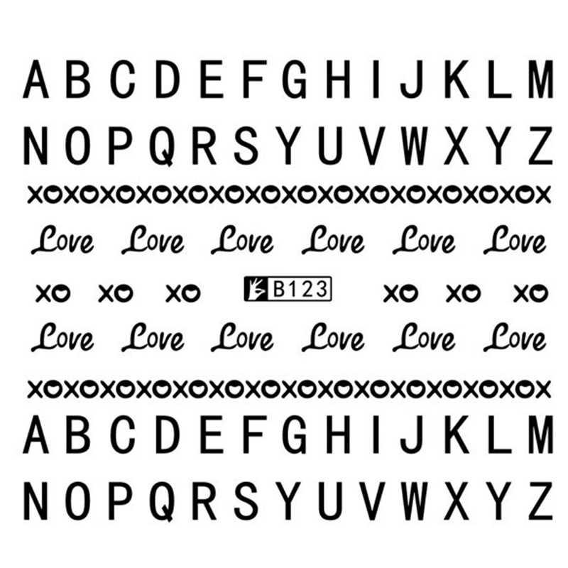 Gam-Belle 1 Lembar Bunga Series/Surat Seri 3D Stiker Kuku Seni Stiker Decals Diy Kecantikan Kreatif Kuku dekorasi