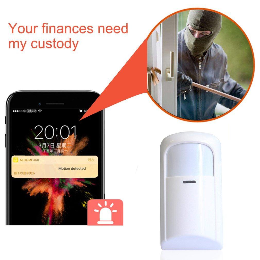711 inteligentny czujnik podczerwieni bezprzewodowe z czujnikiem ruchu DC 9V 433MHz PIR Alert zabezpieczenie gsm alarm antywłamaniowy systemy dla domu dom sklep