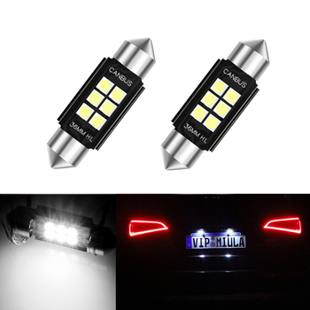 2x Dome Festoon 3030 Error free License Number Plate Light For Mercedes Benz W208 W209 W203 W169 W210 W211 W212 AMG CLK image