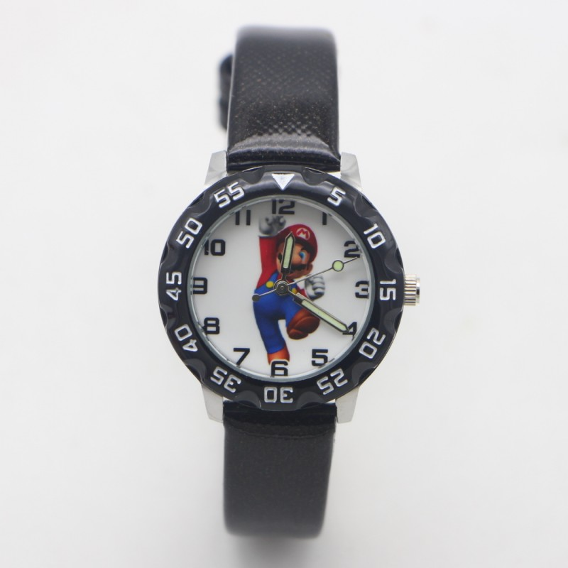 New Arrival Kids Cartoon Super Mario Lovely Leather Wrist Watch Children Student Girls Boys Candy Watches Reloj Mujer Kol Saati