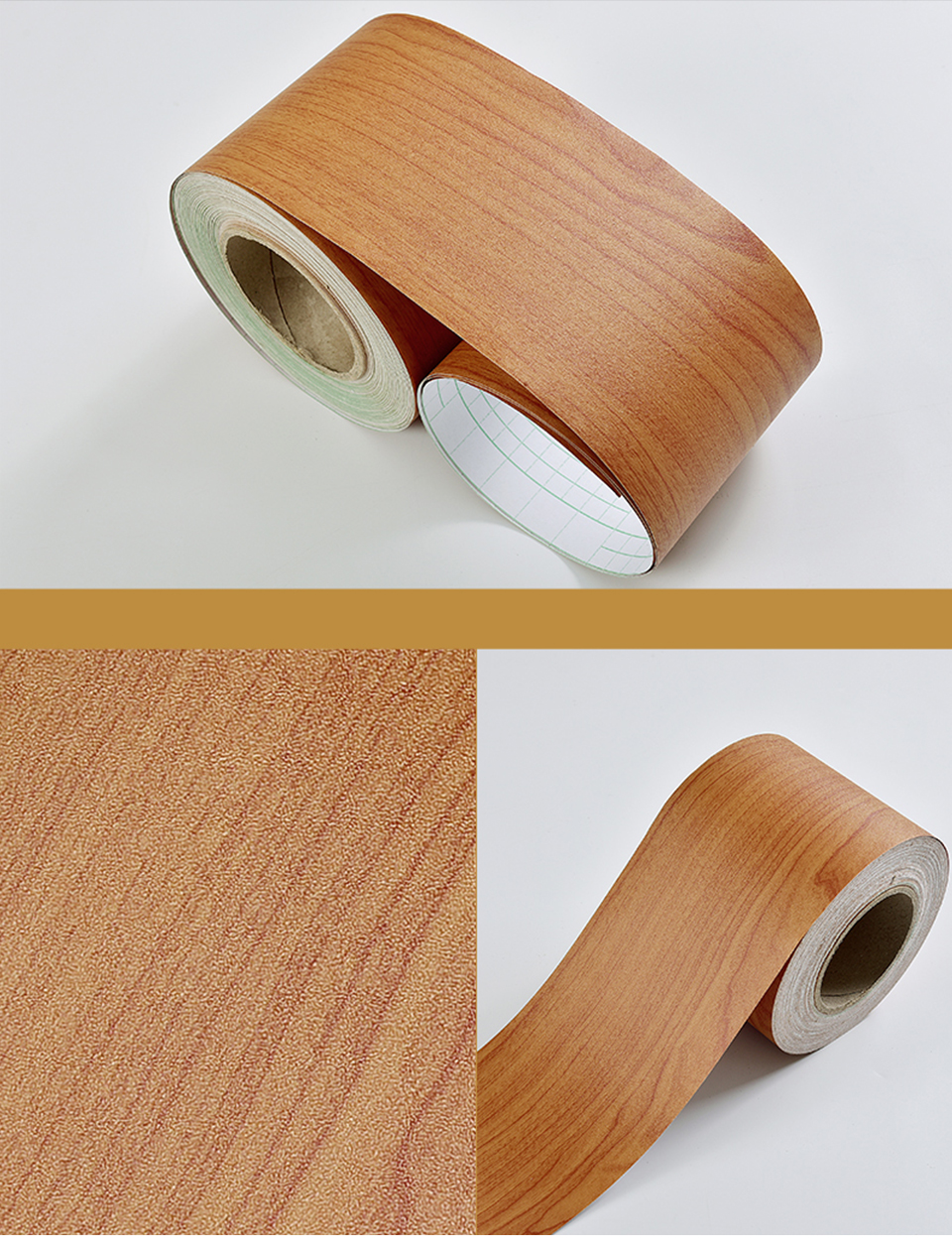 Wood Self Adhesive Window Decal Living Room Floor Border Skirting Contact Paper Waterproof Waist Line Wallpaper Home Improvement He2e8a5cfb1f84329a1b1cd76ed6fa681m