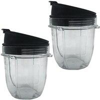 Entsafter Zubehör Tasse Deckel für Ninja Entsafter für Nutri Ninja 12 Unzen TASSE 12 Unzen Mixer Jar 2 Pack von 12 unzen für Nutri Ninja Tassen w auf