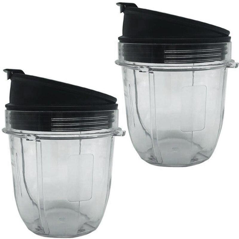 Juicer Accessories Cup Lid For Ninja Juicer For Nutri Ninja 12Oz CUP 12 Ounce Blender Jar 2 Pack Of 12 Oz For Nutri Ninja Cups W