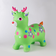 Baby Cute Inflatable Jumping Horse Bouncy Sports Games Colorful Ride on Animal Toys Children Toys for Kids 58*28*50cm