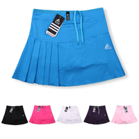 Woman Tennis Skorts , Girls Tennis Skirts with Safety shorts , Quick Dry Female Badminton Skirt Pocket , Women Sport Skirt Short